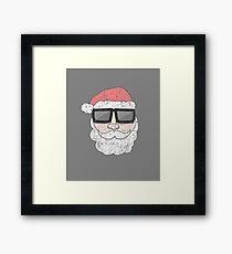 Funny Cool Santa Claus Sunglasses Apparel Christmas T Shirt Framed Print