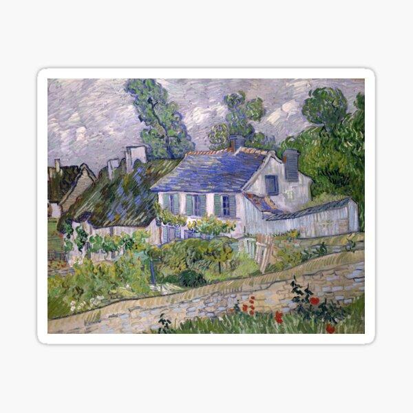 Vincent van Gogh - Houses at Auvers, 1890  Sticker