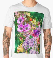 Colorful Floral Art Pattern - Cool Girly Design Men's Premium T-Shirt