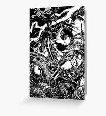 Battle the Kraken Greeting Card