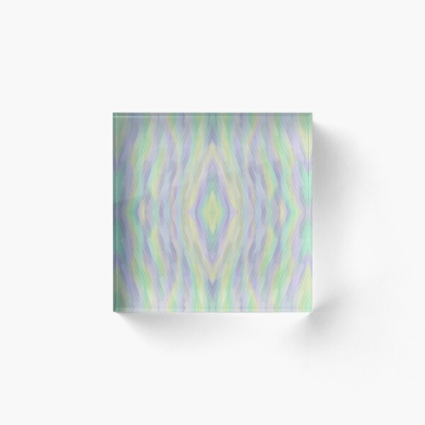 Mint Lilac Yellow Acrylic Block