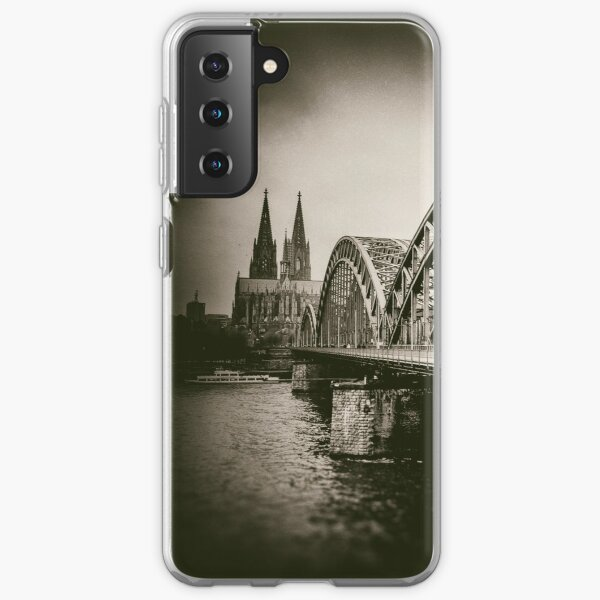 Köln (Cologne) with Hohenzollern-bridge over the Rhine River, and Cologne Cathedral - Veleda Thorsson Photography Samsung Galaxy Soft Case
