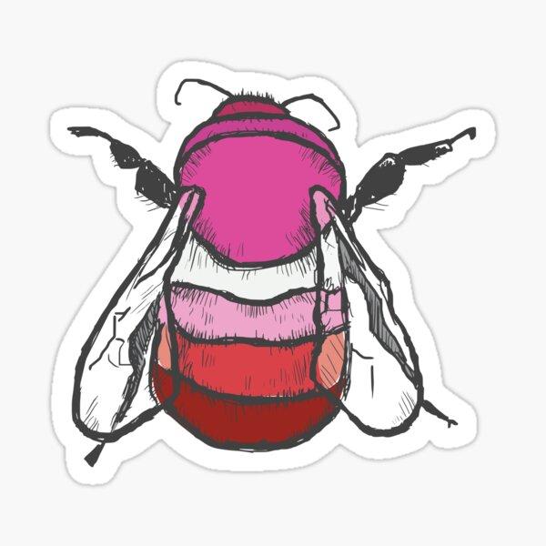 Lesbian Bee Sticker