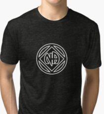 Chunky Symbol and Name White Tri-blend T-Shirt