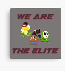 Mario & Luigi Elite Trio Canvas Print