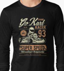 Go Kart Racer Vintage Retro Long Sleeve T-Shirt