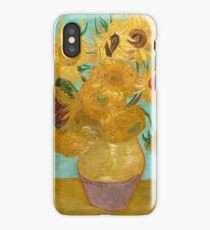 Vase with Twelve Sunflowers by Vincent Van Gogh 1889  iPhone Case/Skin