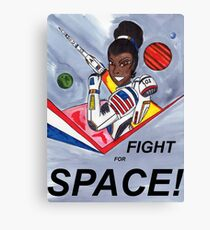 Fight For Space! Canvas Print