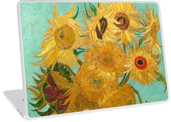 Vase Mit Zwölf Sonnenblumen Von Vincent Van Gogh 1889 Laptop Folien