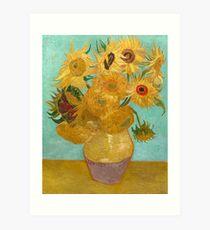 Vase with Twelve Sunflowers by Vincent Van Gogh 1889  Art Print