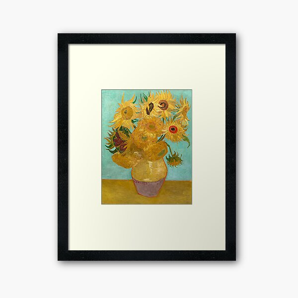 Vase avec douze tournesols par Vincent Van Gogh 1889 Impression encadrée