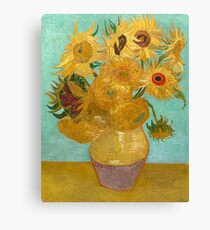 Vase with Twelve Sunflowers by Vincent Van Gogh 1889  Canvas Print