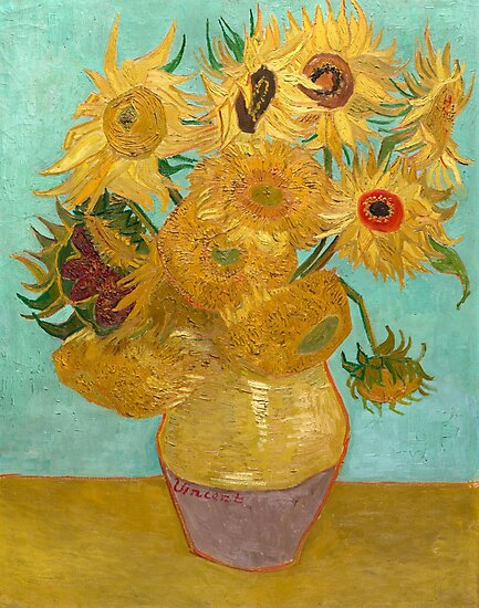 Vase with Twelve Sunflowers by Vincent Van Gogh 1889  by fineearth