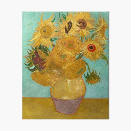 Vase with Twelve Sunflowers by Vincent Van Gogh 1889  Art Board Print