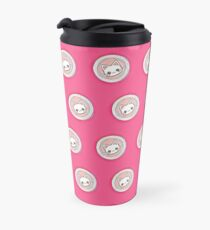 Cute Cat Print - Pink Travel Mug