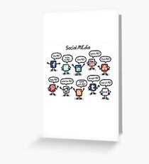 social media Greeting Card