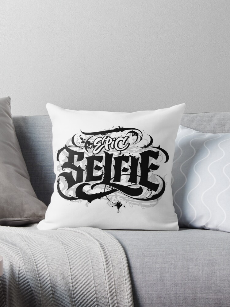 Epic Selfie Black Goth Grunge Tattoo Hand Lettering Calligraphy