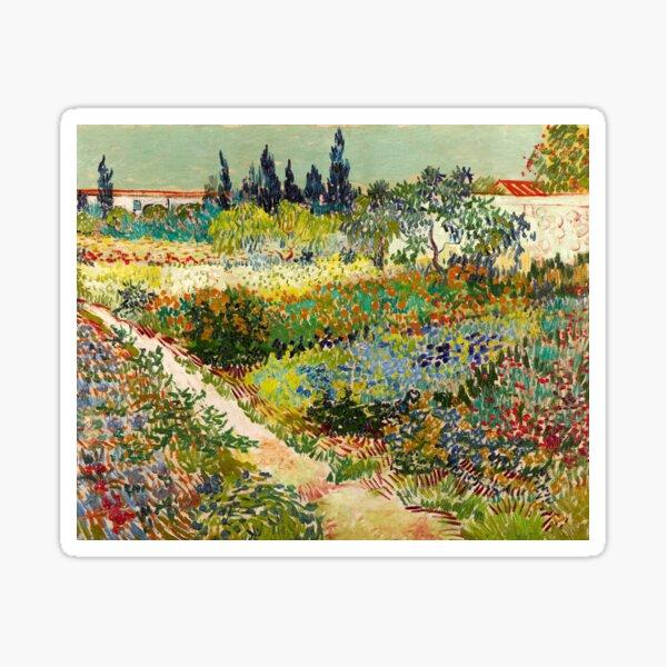 Vincent van Gogh - Garden at Arles, 1888  Sticker