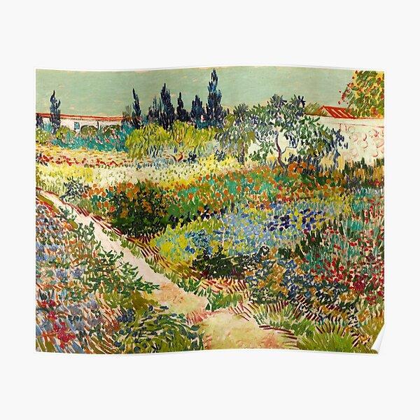 Vincent van Gogh - Garten in Arles, 1888 Poster