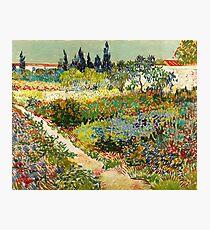 Vincent van Gogh - Garden at Arles, 1888  Photographic Print