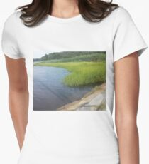 Ocean Coast Dighton, MA Women's Fitted T-Shirt