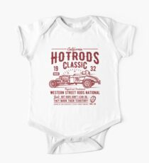 Hot Rod Car Retro Vintage One Piece - Short Sleeve