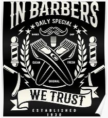 In Babers we trust - Retro Vintage Poster