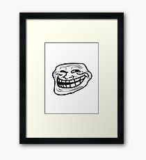 Trollface Framed Print