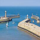 Whitby Piers by Jenn Ridley
