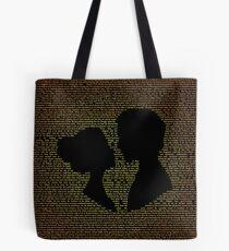 Pride and Prejudice Typography Tote Bag