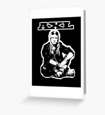 AXL Greeting Card