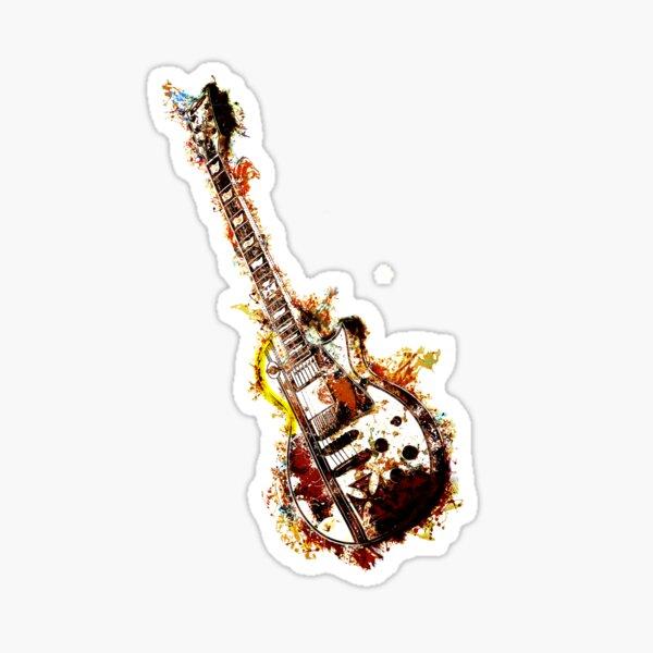 Rock Guitar Abstract Design Sticker