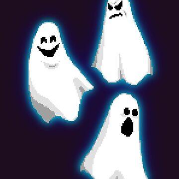 Pixel Ghosts by BlazeHedgehog