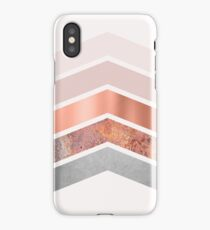 Blush and Rose Gold Chevrons iPhone Case/Skin