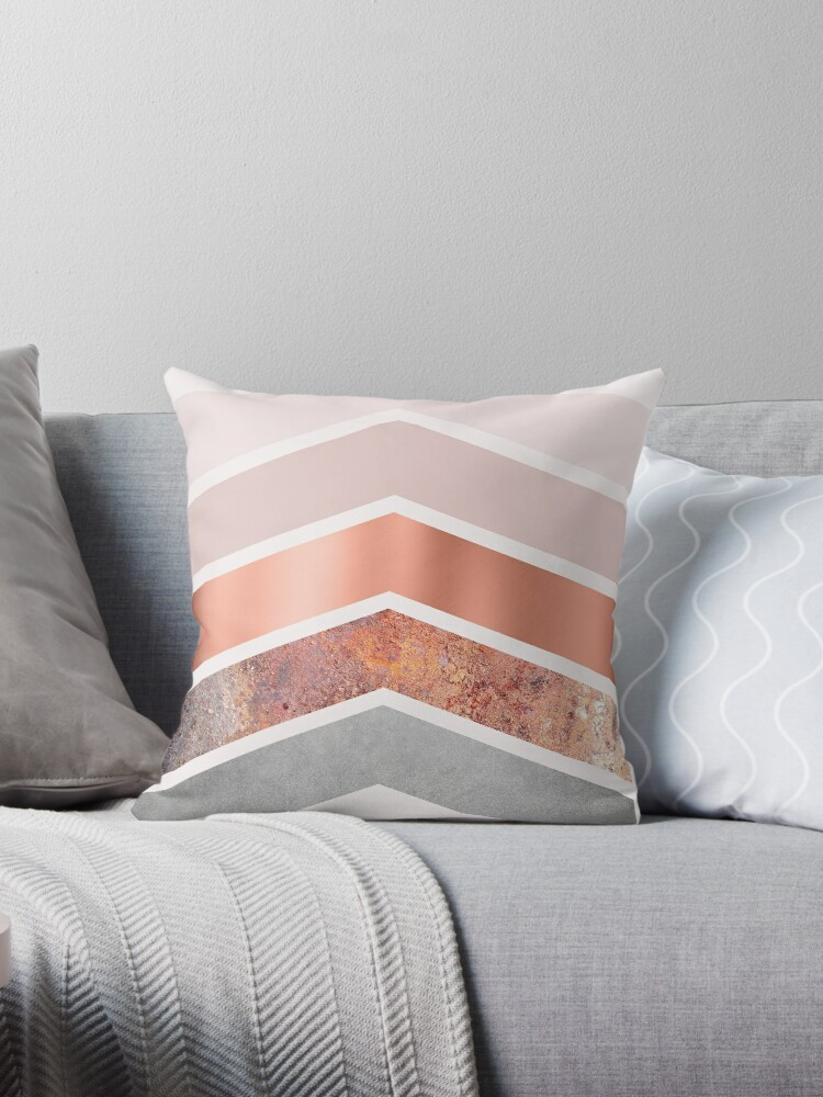 Blush and Rose Gold Chevrons by UrbanEpiphany