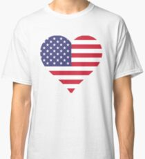 American Flag Heart  by Scarebaby Classic T-Shirt