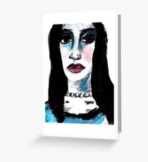 Woman in Turquoise Greeting Card