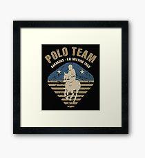 Polo Team Framed Print