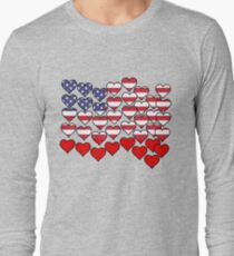 US Flag Made of Hearts by Scarebaby T-Shirt
