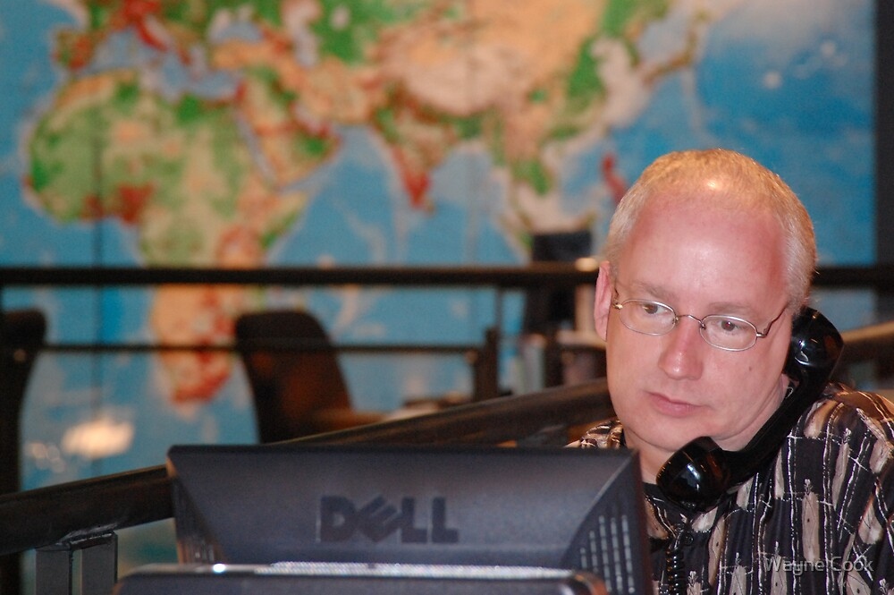 Call Center operator by Wayne Cook