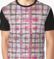 Reds and Greys Watercolor Plaid Pattern Graphic T-Shirt