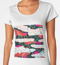 Spotted Abstract - Hot Pink-Red Women's Premium T-Shirt