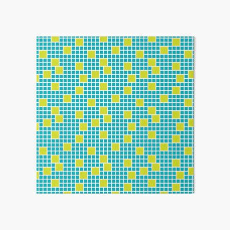 Be There Or Be Square - Lime/Teal Art Board Print