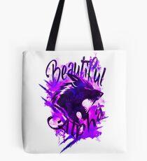 Beautiful Alpha Wolf Purple Tote Bag