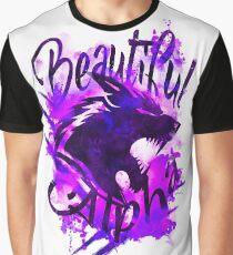 Beautiful Alpha Wolf Purple Graphic T-Shirt
