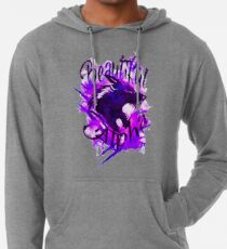 Beautiful Alpha Wolf Purple Lightweight Hoodie