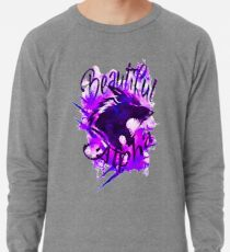 Beautiful Alpha Wolf Purple Lightweight Sweatshirt