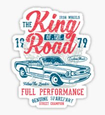 King of the Road Car Retro Vintage Sticker