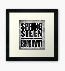 Bruce Springsteen And The E Street Band Springsteen On Broadway Official Logo Merch T Shirt Framed Print