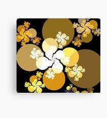 Gold Brown Spheres Canvas Print